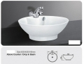 Grolo TBB 217 Above Counter Basin