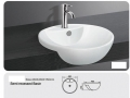 Grolo TBB-223 Semi Recessed Ceramic Basin