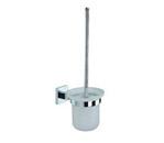 """Grolo """"Rosetta"""" Toilet Brush Holder (Glass)"""